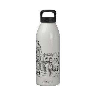 rome colosseum water bottle