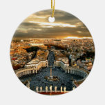 Rome Double-Sided Ceramic Round Christmas Ornament