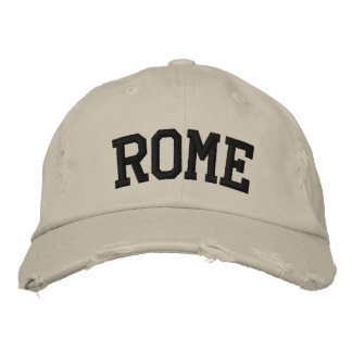 Rome Embroidered Hat Embroidered Hats