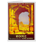 Rome Express Railway Vintage Italy Travel Stationery Note Card