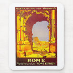 Rome Express Railway Vintage Italy Travel Mouse Pad