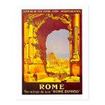 Rome Express Railway Vintage Italy Travel Postcard