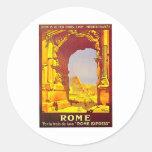 Rome Express Railway Vintage Italy Travel Sticker
