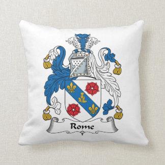Rome Family Crest Throw Pillow