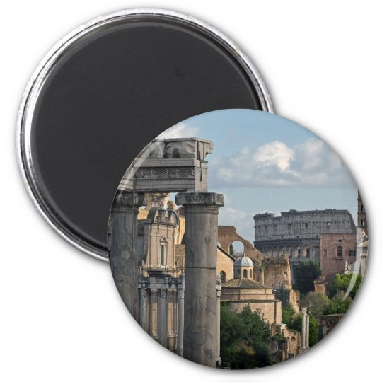 Rome - Forum Colosseum View 2 Inch Round Magnet