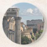 Rome - Forum Colosseum View Drink Coaster