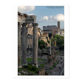 Rome - Forum Colosseum View Postcard