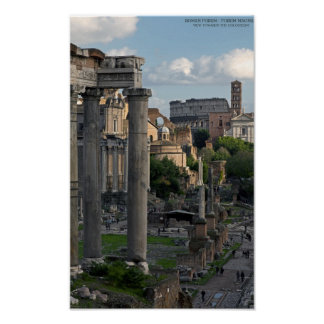 Rome - Forum Colosseum View Poster