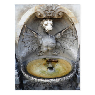 Rome Fountain Dragon Ancient Water Italy Monument Post Cards