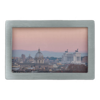 Rome from Gianicolo panorama at sunset Belt Buckle