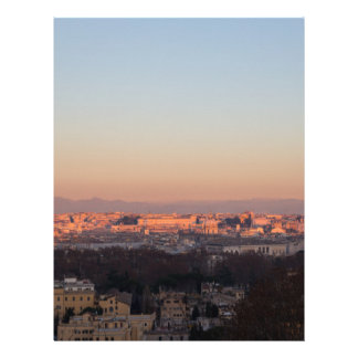 Rome from Gianicolo panorama at sunset Letterhead