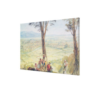 Rome from Monte Mario, c.1818 (w/c over pencil on Canvas Print