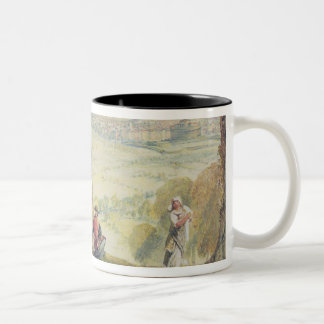 Rome from Monte Mario, c.1818 (w/c over pencil on Two-Tone Coffee Mug