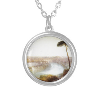 Rome from Mount Aventine by William Turner Silver Plated Necklace