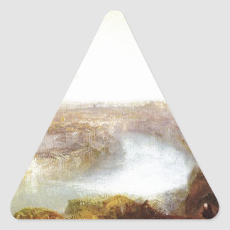 Rome from Mount Aventine by William Turner Triangle Sticker