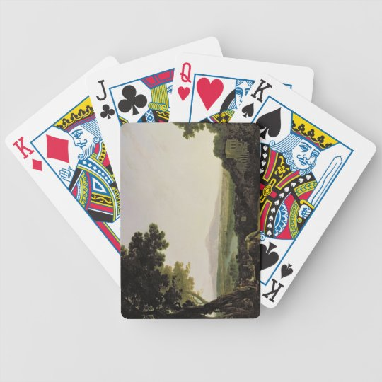 Rome from the Villa Madama (oil on canvas) Bicycle Playing Cards