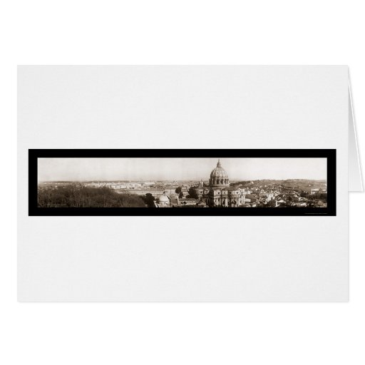 Rome from Vatican Photo 1909 Greeting Card