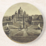 Rome, guide book cover 1900 beverage coasters