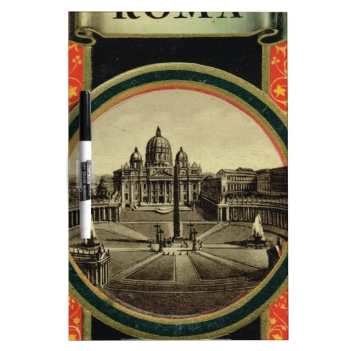 Rome, guide book cover 1900 Dry-Erase whiteboards