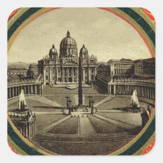 Rome, guide book cover 1900 square sticker