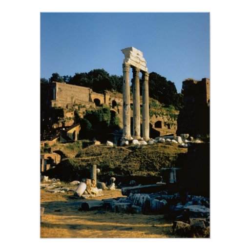 Rome; in the Forum Poster