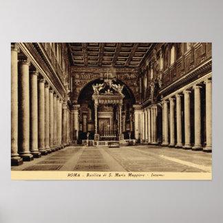 Rome, Inside S. maria Maggiore Posters