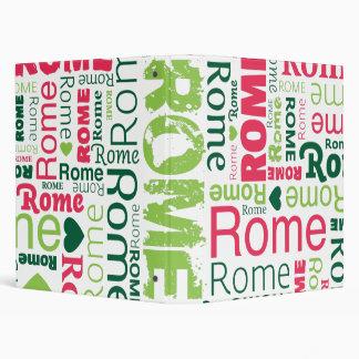 Rome italian city typography photo album binder