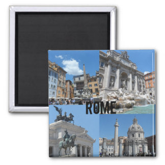 Rome, Italy 2 Inch Square Magnet