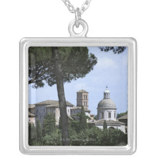 Rome, Italy 3 Silver Plated Necklace
