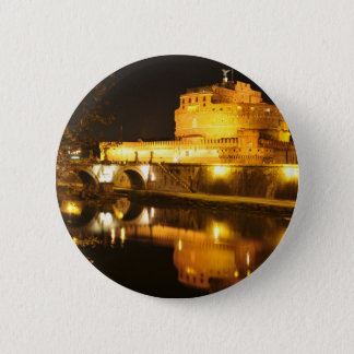 Rome, Italy at night Pinback Button