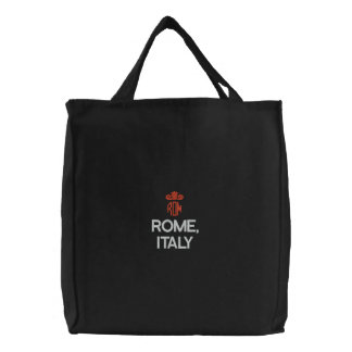 ROME, ITALY BLACK TOTE BAGS