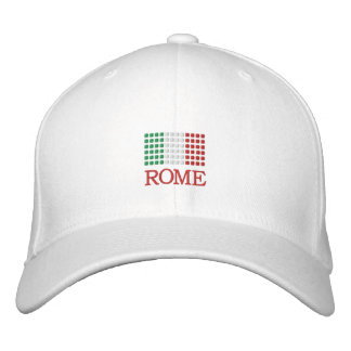 Rome Italy Cap - Rome Italian Flag Hat Embroidered Hat