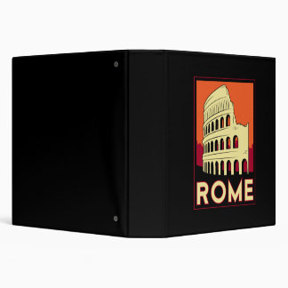 rome italy coliseum europe vintage retro travel 3 ring binder