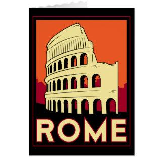 rome italy coliseum europe vintage retro travel card