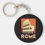 rome italy coliseum europe vintage retro travel keychains