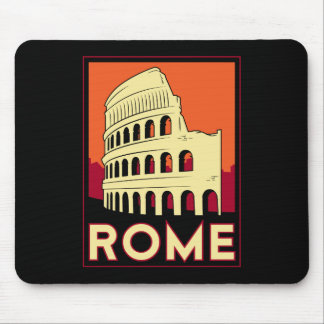 rome italy coliseum europe vintage retro travel mouse pad