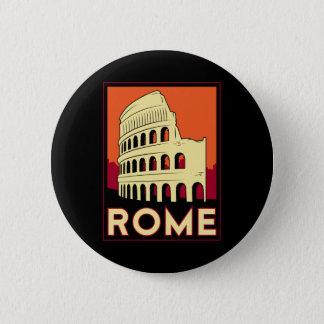 rome italy coliseum europe vintage retro travel pinback button