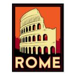 rome italy coliseum europe vintage retro travel post card