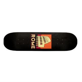 rome italy coliseum europe vintage retro travel skate board deck