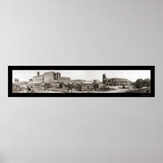 Rome, Italy Coliseum Photo 1909 Poster