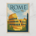 """Rome, Italy Colosseum Postcard<br><div class=""""desc"""">Anderson Design Group is an award-winning illustration and design firm in Nashville,  Tennessee. Founder Joel Anderson directs a team of talented artists to create original poster art that looks like classic vintage advertising prints from the 1920s to the 1960s.</div>"""