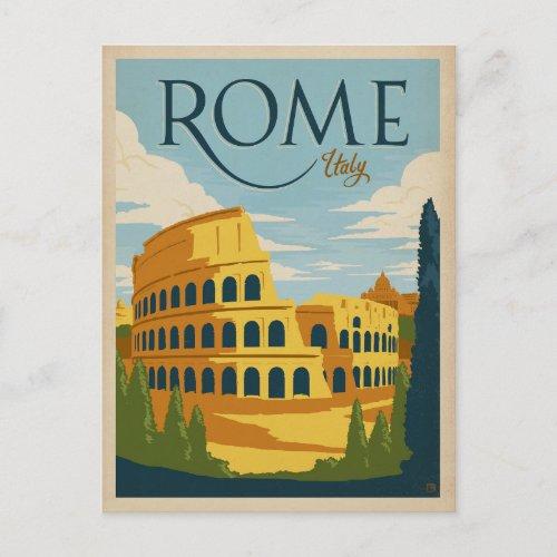 Rome Italy Colosseum Postcard