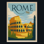 "Rome, Italy Colosseum Postcard<br><div class=""desc"">Anderson Design Group is an award-winning illustration and design firm in Nashville,  Tennessee. Founder Joel Anderson directs a team of talented artists to create original poster art that looks like classic vintage advertising prints from the 1920s to the 1960s.</div>"
