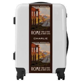 Rome Italy custom name luggage