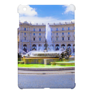 Rome, Italy - Fountain roundabout outside Piazza d Case For The iPad Mini