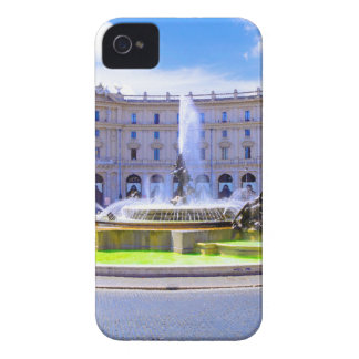 Rome, Italy - Fountain roundabout outside Piazza d iPhone 4 Cover