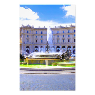 Rome, Italy - Fountain roundabout outside Piazza d Stationery