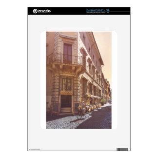 Rome Italy Italian Grocery Getter Bike Cobblestone iPad Skin