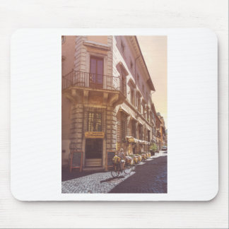 Rome Italy Italian Grocery Getter Bike Cobblestone Mouse Pad