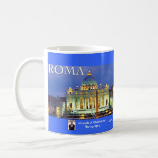 ROME ITALY CLASSIC WHITE COFFEE MUG